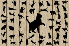 50 Cat SVG, Cat DXF, Cat EPS, Cat Silhouette Clipart, Cat Vector, Cat Png, Cat Cutting file, Kitten Svg, Kitten Eps, Kitten Dxf, Printable. Product Image 1