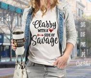 Savage BUNDLE - not average, classy. sweet - funny - SVG Cut Product Image 2