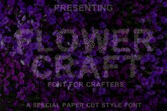 Flower Craft - Alphabets Flower Font For Crafters Product Image 1