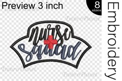Nurse Squad Applique - Embroidery Files - 1498e Product Image 2