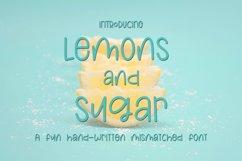 Web Font Lemons and Sugar- A Fun Hand-Written Mismatched Fon Product Image 1