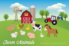 Farm Animals Clipart Vector PNG Product Image 1