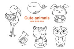Worksheet animals and coloring book Product Image 1
