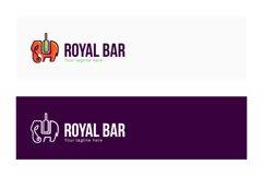 Royal Bar - Elephant Animal Stock Logo Template Product Image 2