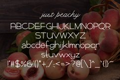 Web Font Just Peachy Product Image 2
