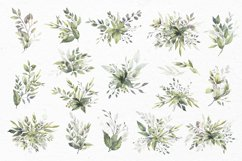 Watercolor Greenery Bouquets Clipart Product Image 3