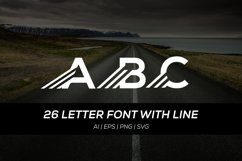 26 letter font with fast line Product Image 1