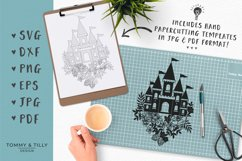 Floral Princess Castle - SVG DXF PNG EPS JPG PDF Cut File Product Image 4