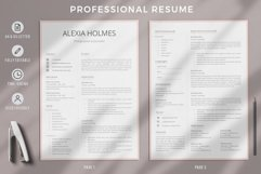 Resume and Cover Letter Template   Minimalist Resume CV Product Image 2