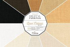 Digital Paper Pack - Linen Natural Set 01 Product Image 1