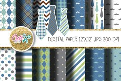 Fathers Day Digital Paper for crafter Product Image 1