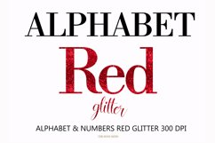 Alphabet Red, valentine, letters red, sublimation Product Image 1