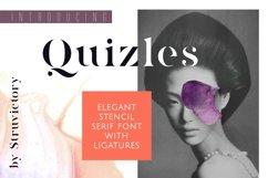 Quizles - Stencil Serif Font Product Image 2