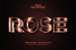 Rose gold text effect, shiny rose gold alphabet style Product Image 1