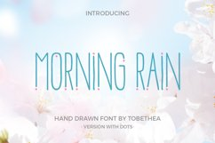 Morning Rain Font with Dots Product Image 1