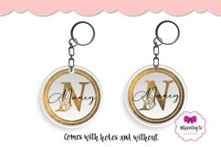 Letter Keychain, Alphabet Butterfly Keychain,Letter Monogram Product Image 2