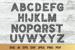 Aztec Alphabet SVG | Alphabet Letters SVG Product Image 1