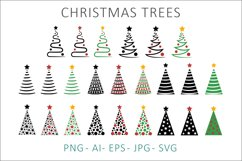 Christmas Trees SVG Clipart Product Image 1