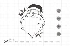 Santa face christmas svg / Santa Head SVG / christmas frame Product Image 2