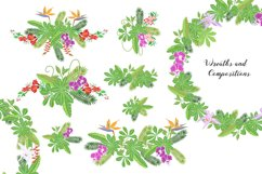 Jungle clipart with flowers Product Image 2