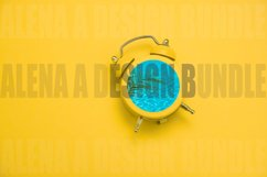 Alarm Clock with Blue Sea Water and Green Palm Leaf collage Product Image 1