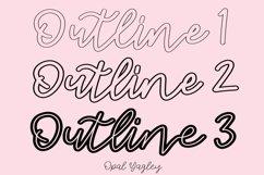 3 Outline Procreate Brushes - Mono Outline Lettering Brush Product Image 2