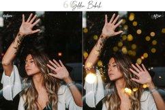60 Golden Bokeh lights Effect Photo Overlay, Wedding Overlay Product Image 2