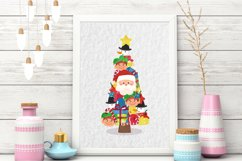Watercolor Christmas tree clipart Product Image 3