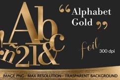 Alphabet, Gold letters, gold sublimation, gold foil Product Image 2
