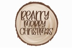 Web Font Christmas Wish List - A Hand Lettered Font With Lig Product Image 2