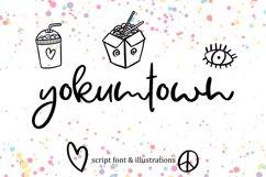 Yokumtown Script Font & Doodles Product Image 1