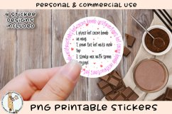 Hot Chocolate Bomb Instruction Stickers Printable PNG Product Image 2