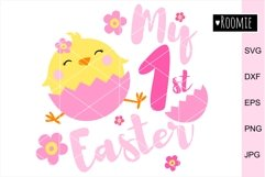 My First Easter GIRL Svg, 1st Easter Chicken, Happy Easter Product Image 1