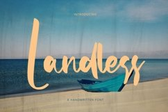 Web Font Landless - Handwritten Font Product Image 1
