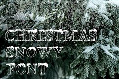 Christmas snowy display font Product Image 2