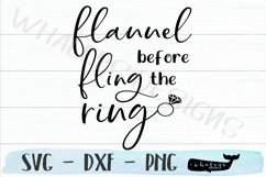 Flannel Fling Before the Ring Bachelorette SVG Cut File Product Image 2