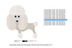 POODLE Embroidery Design in 2 sizes Product Image 3