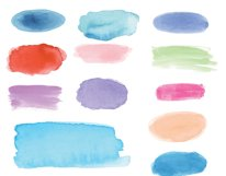 Watercolor Swashes Clipart Set Product Image 2