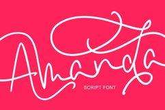 Amanda Script Font Product Image 2