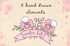 Doodle Design Elements with Orchids Product Image 3
