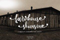 Farmhouse Shunsine a Beauty Handwritten Script Product Image 1