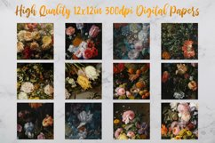 Vintage Flowers Oil Painting Digital Paper - Vol 1 Product Image 2
