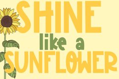 Sunflower Garden - A Cute Font Product Image 2