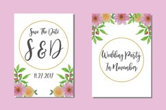 Flower Watercolor Wedding Invitations Card SVG Designs Product Image 1