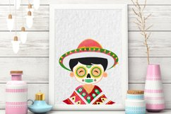 Day of the Dead clipart - Sugar Skull - Dia de los muertos Product Image 5