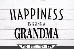 Happiness Is Being A Grandma SVG Product Image 2