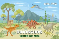Dinosaurs. Vector clip arts. Product Image 1