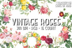 Vintage Rose Clipart Sublimation Graphics Product Image 1