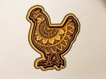 Chicken Mandala 3D Layered Design Product Image 2
