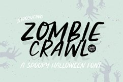 ZOMBIE CRAWL a Distressed Halloween Font Product Image 1
